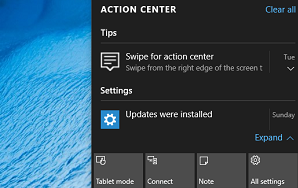 How to remove notifications from Action Center in Windows 10