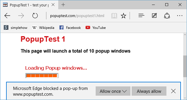 How do you enable pop ups on windows 10