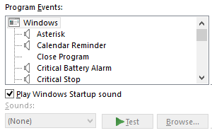 How to disable notification sounds in Windows 10