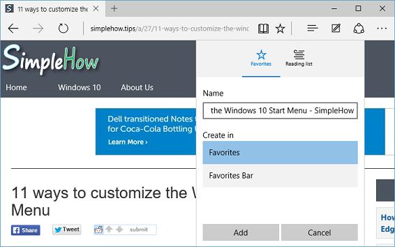 add favorites to existing folder