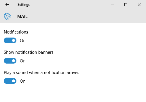 customize application specific notification settings