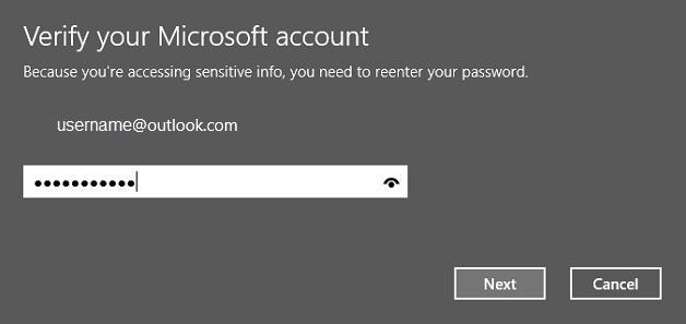 verify account password