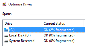 How to defragment and optimize disk drives in Windows 10