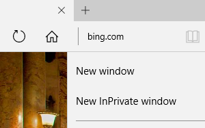 How to open new browsing window or new tab in Microsoft Edge