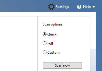 Manual scan options
