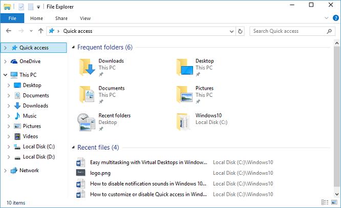 Comment personnaliser ou désactiver l'accès rapide dans Windows 10