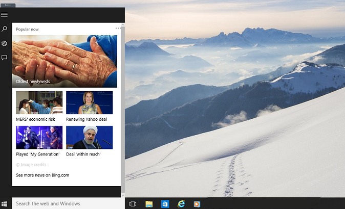 How to customize or disable search box on Windows 10 taskbar