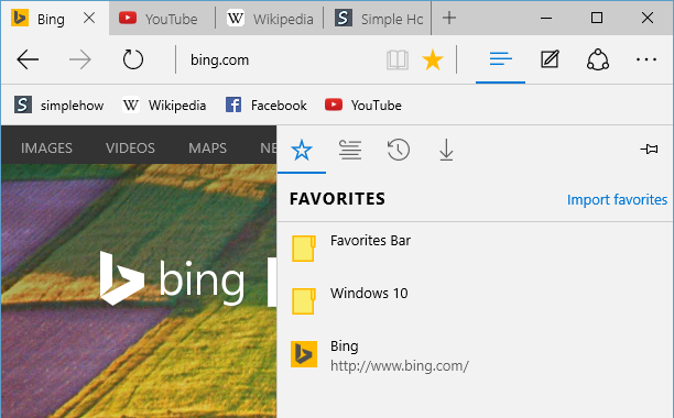 How To Add Or Remove Favorites In Microsoft Edge Browser On Windows 10 Simplehow
