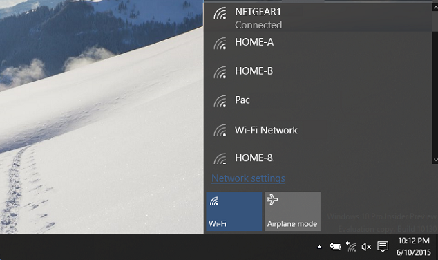 Connected to Wi-Fi network