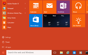 How to change start menu color in Windows 10