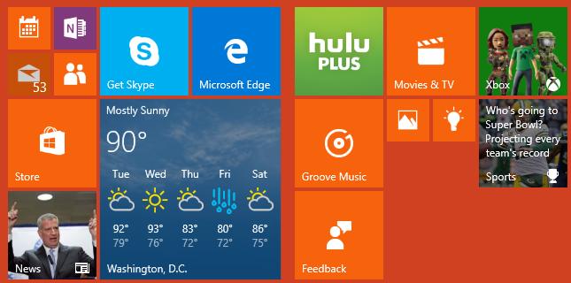 Supprimer et personnaliser des vignettes dans le menu Démarrer de Windows 10