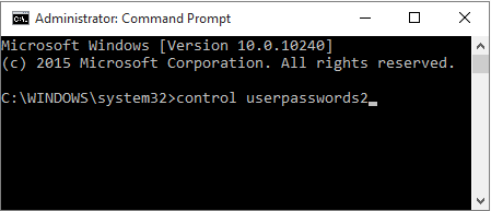 entering command in command prompt