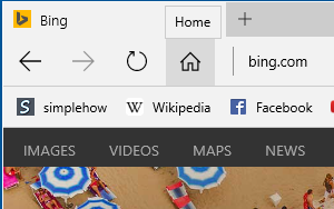 How to make Home button visible in Microsoft Edge