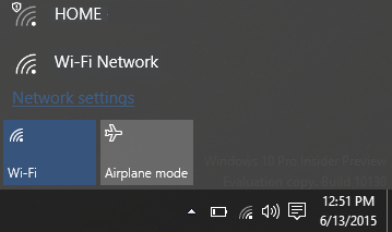 Switch Wi-fi ON or OFF