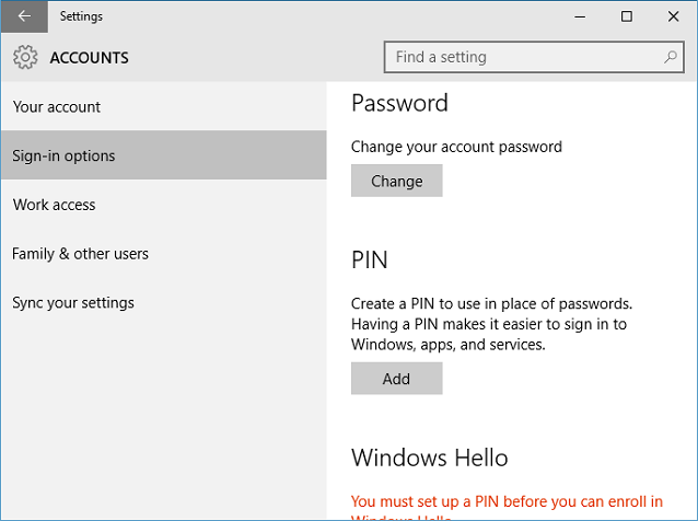 How to set or change Microsoft account login password in Windows 10