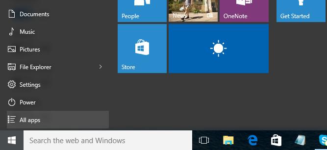 How to add or remove folder shortcuts in Windows 10 Start menu