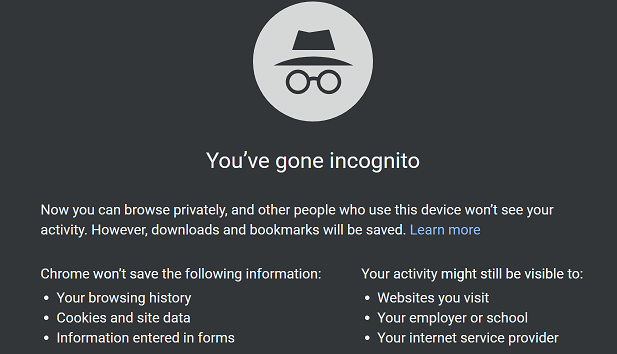How to open Incognito mode window in Google Chrome on